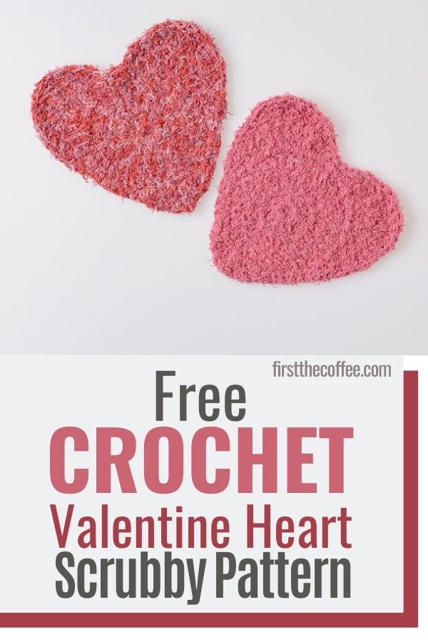 Free Heart Crochet Scrubby Pattern for Valentines Day